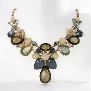 Gold Statement Necklace with champagne accents